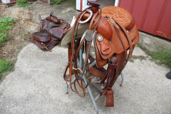 """Hereford 15 1/2"""" All Around Saddle With Bridle"""