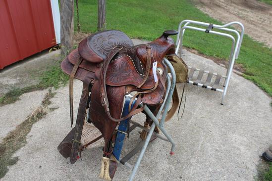"Hereford Model # 164-63733 15 1/2"" Cutting Horse Saddle"