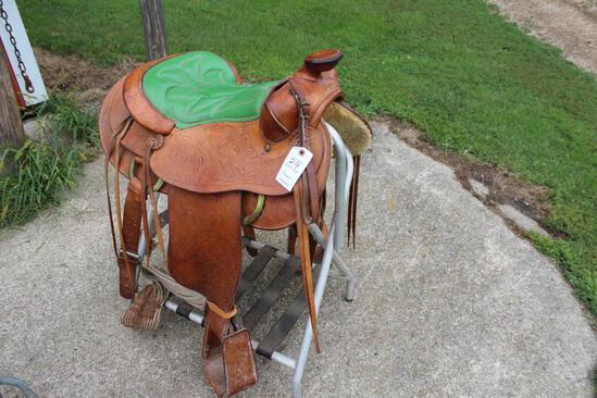 """Saddle King Of Texas 15 1/2"""" Saddle"""