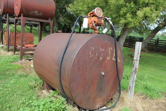 500 Gallon Diesel Barrel, Gasboy Pump