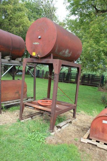 300 Gallon Diesel Barrel On Steel Stand