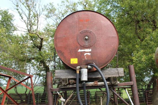 300 Gallon Gas Barrel On Steel Stand
