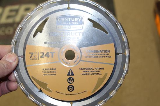 "(4) NEW CENTURY  7 1/4"" COMBINATION SAW BLADES"