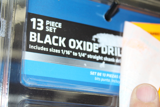 (2) NEW SETS OF BLACK OXIDE DRILL BITS, 13 PIECE