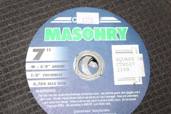 """(7) NEW MASONRY 7"""" CUTTING WHEELS"""