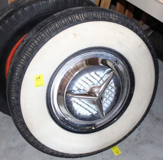 Goodyear Superior cushion wide white wall tire with cap, P10-15