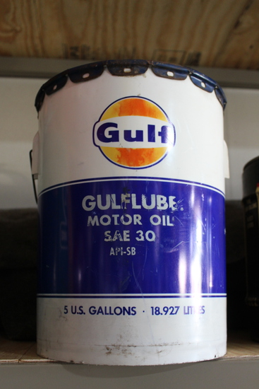 Poly Gulf Oil 5gal oil can