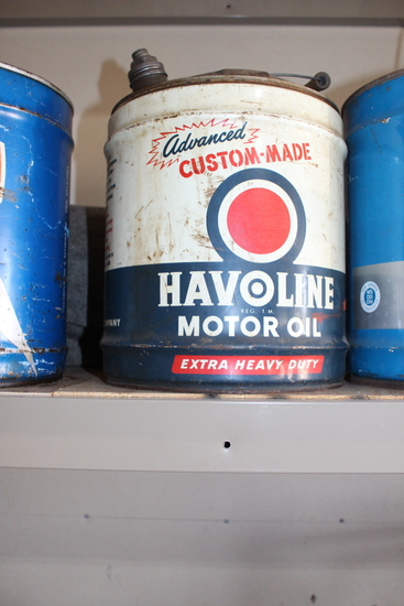 Havoline Motor Oil Extra Heavy Duty 5gal oil can