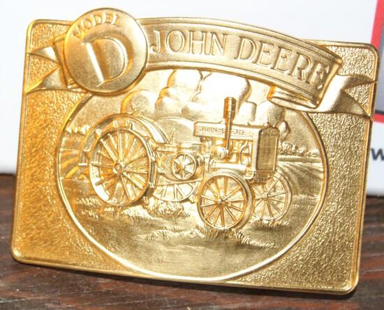 "JOHN DEERE BELT BUCKLE ""D"", LIMITED EDITION"
