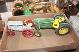 JOHN DEERE TOY TRACTOR , AND FORDSON TRACTOR TOY, NO BOX