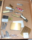 MISC POCKET KNIVES, SOME WITH ADVERTISING