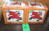 (2) NEW HOLLAND 1/8TH SCALE 1 FLYWHEEL ENGINE ON CART, BOX HAS WEAR