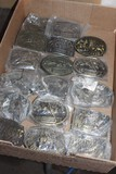 (17) HESSTON BELT BUCKLES, 1975 AND NEWER