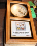 CASE WOODEN FRAME CLOCK, IN WORN BOX