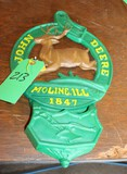 JOHN DEERE CAST IRON LETTER HOLDER, REPRODUCTION