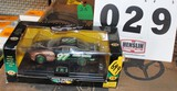 DIE CAST 1/24TH SCALE RACE CAR WITH JD LOGO, BOX HAS DAMAGE
