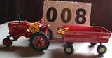 FARMALL MTA 1/16 SCALE TOY TRACTOR WITH WAGON BY ERTL, NO BOX