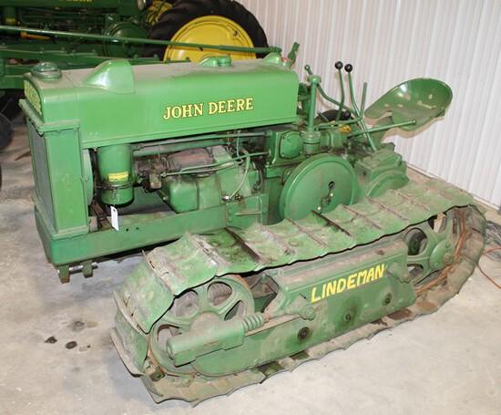 "John Deere BO Lindeman Crawler, 12"" Pads, 46"" Gauge, PTO, Drawbar,"