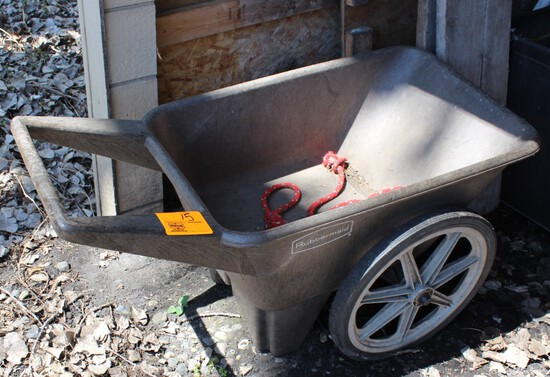 RUBBERMAID 2 WHEEL YARD CART