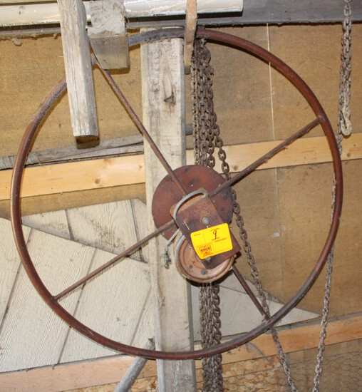20 FT LOG CHAIN & BOAT LIFT WINCH WHEEL
