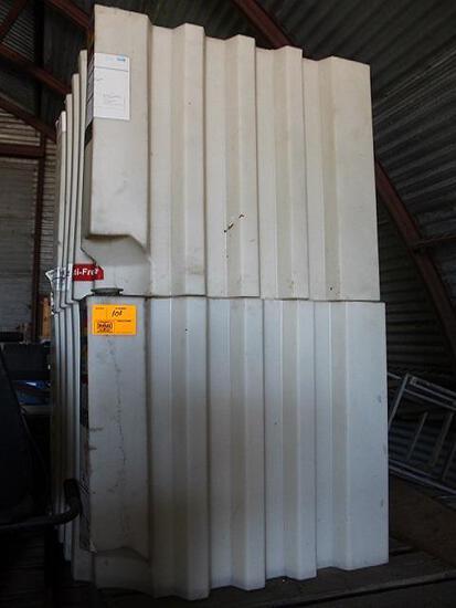 (2) 100 Gal Poly Bulk Oil/Antifreeze Tanks
