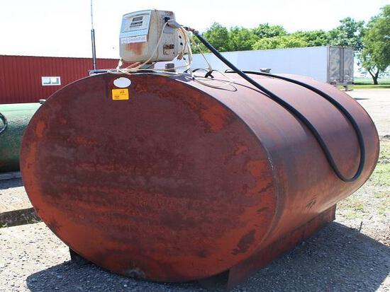 1000 Gal Diesel Barrel, Gasboy Pump and Meter, Auto Nozzle