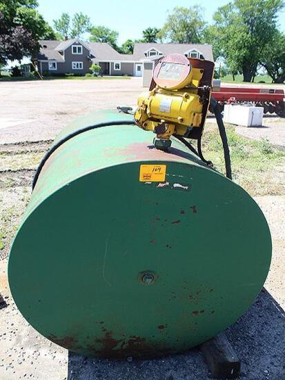 500 Gal diesel Barrel, Gasboy Pump and Meter, Auto Nozzle