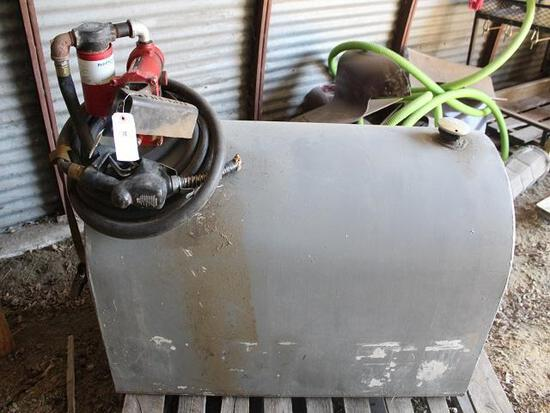 Approx 125 Gal Pickup Diesel Barrel, Fill-Rite 20 GPM Pump, Auto Nozzle