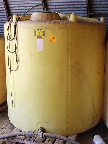 Ace RotoMold 1500 Gal Vert Poly Tank, Yellow