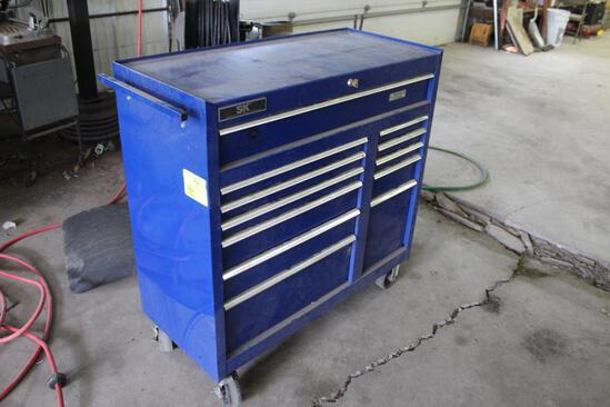 SK Tools Rolling Tool Cabinet, 12 Drawer