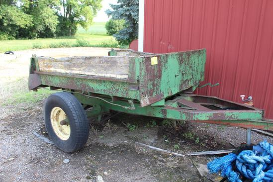 Homemade 2 Wheel Rock Trailer Hydraulic Dump
