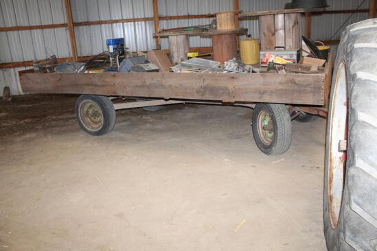 "8' X 14' Flat Rack with 15"" Tires with David Bradley Running Gear"