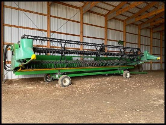 1996 John Deere 925 Flex Head, Fore/Aft, Stubble Lights, SN: H00925F666608