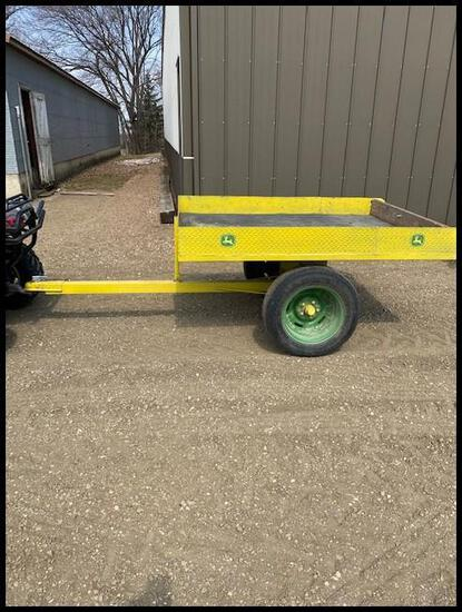 "2016 4'X6' ATV Rock Trailer, Shop Made, 44"" Tire Center to Center"