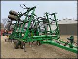 2011 John Deere 2210 30.5' Field Cultivator with Rolling Baskets, 2 Bar Coil Tine Harrow,