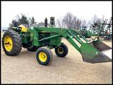 1968 John Deere 4020 Tractor, 8 Spd Power Shift with JD 158 Loader, 7' bucket,