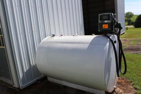 500 Gal Diesel Barrel, Gasboy Pump & Meter