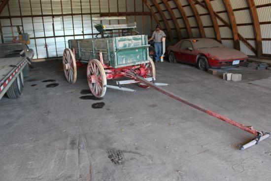 Double Box Wagon, 2 Horse Pole, Seat