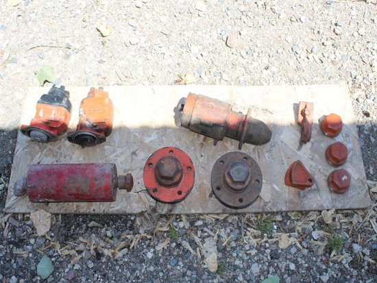 AC Starter 12 Volt, (2) 4 CYL Mags, (2) Spindles, Brake Lock, Dust Cover, H
