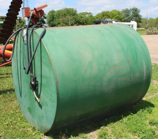 1000 Gallon Fuel Tank, Fill-Rite Pump, Tax No Exemption, Located At 3 Ash Ave Bird Island, MN 55310