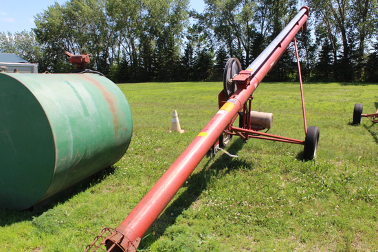 """Feterl Auger, 8""""x28', 7.5 HP Elec Motor, Tax Or Sign ST3 Form, Located 3 As"""