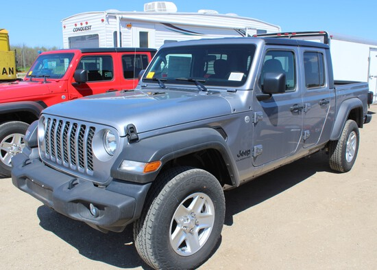 2020 Jeep Gladiator Sport 4x4, Trail Rated, Package 24S, Billet Silver Metallic,