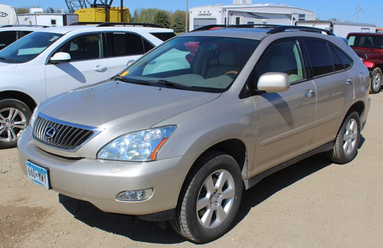 2008 Lexus RX350, V6, Auto Trans, PW/PL, Leather Bucket Heated Power Front Seats,
