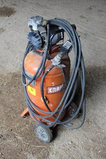 """Craftsman Air Compressor, Approx 15 Gal tank, needs work"