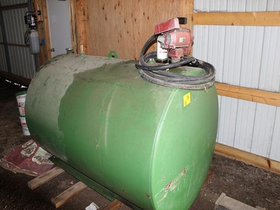 500 Gal Diesel Barrel, Tuthill 700 120V Pump, Auto Nozzle
