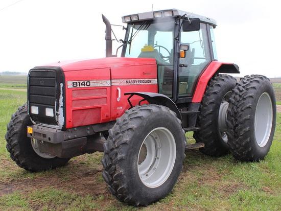 1995 MF 8140 MFWD Tractor, Dynashift, Goodyear 18.4R42 Rear Duals, 14.9R30