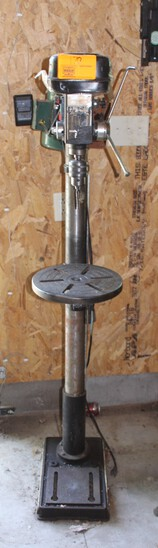 "Cal-Hawk Drill Press, 12 Speed, Floor Model, 1/2"""