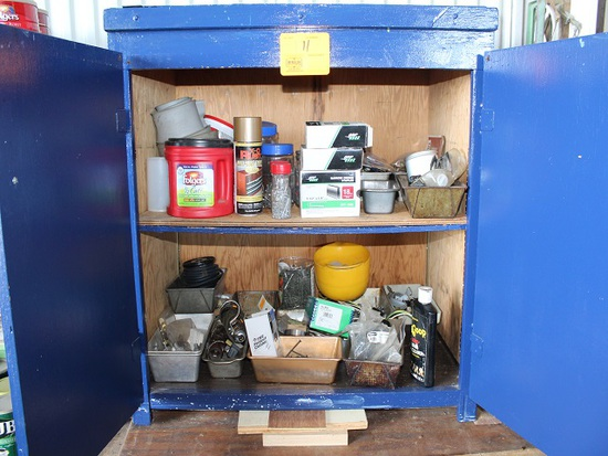 Contents of Cabinet, Screws, Drill Bits, Staples