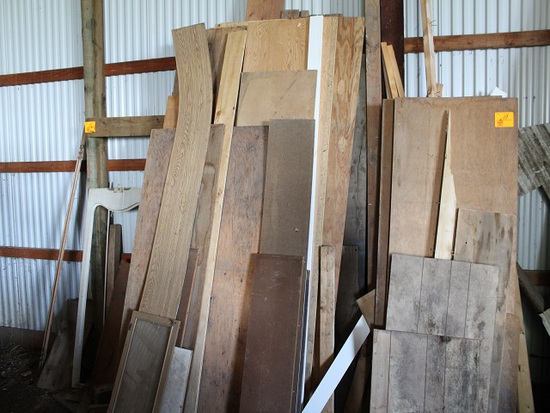 Misc. Lumber Against East Wall, North Side