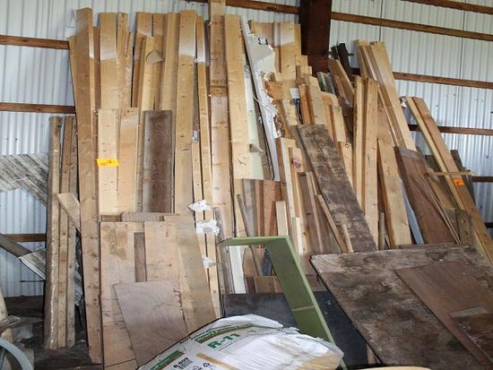Misc. Lumber Against East Wall, Center